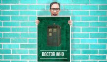 Doctor Who Tardis Matt Smith Art - Wall Art Print Poster   - Kids Children Bedroom Geekery